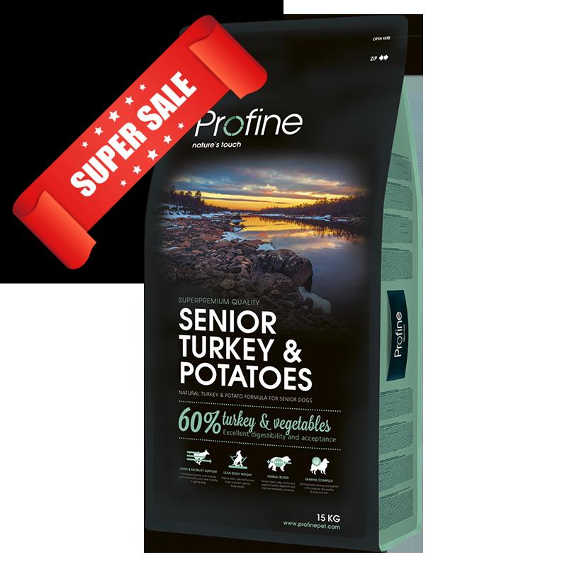 Сухой корм для собак Profine Senior Turkey & Potatoes 15 кг