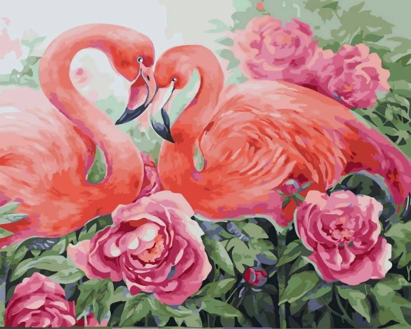 Картина по Номерам 40x50 см. Розовая нежность Rainbow Art