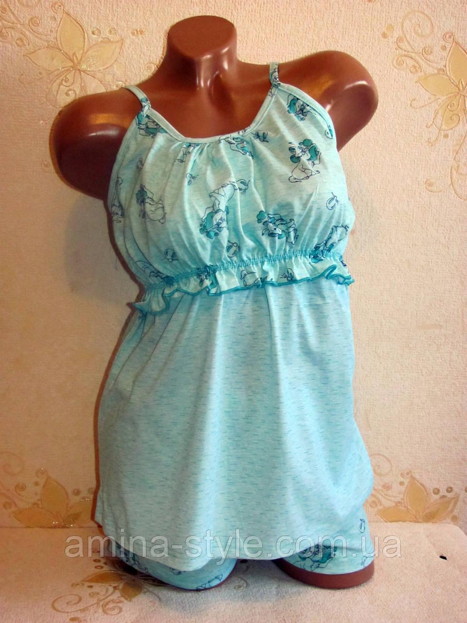 Домашний женский комплект, пижама для кормящих мам, размер  44-50  хлопок
