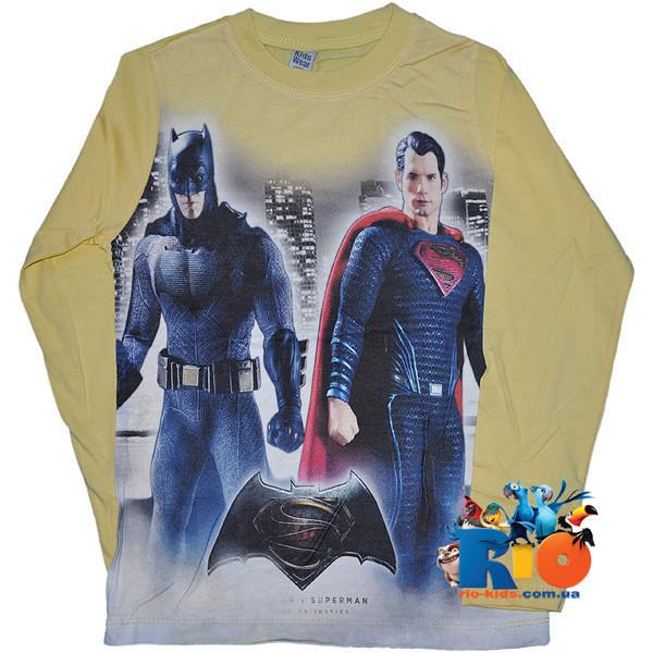 """Детский батник """"Superman"""" , трикотажный , для мальчиков (рост 98-104-110-116-128 см)"""