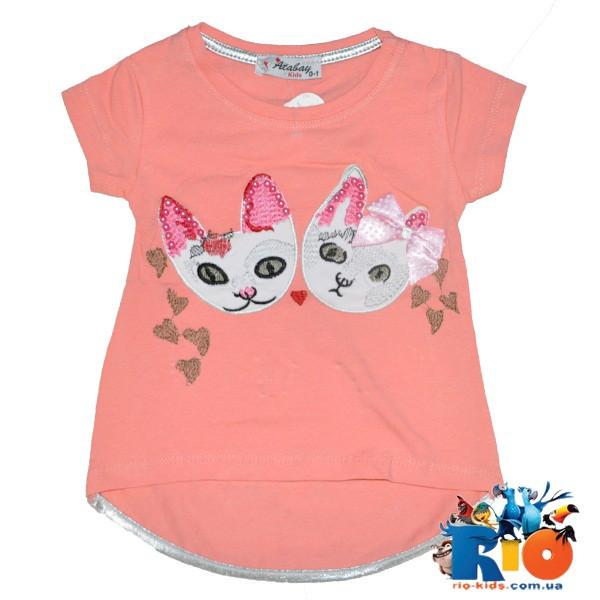 Детская футболка с рисунком для девочки 5-8 лет  (4 ед. в уп.)