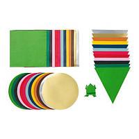 IKEA ЛУСТИГТ Бумага оригами, разные цвета, различные модели, (503.853.97)