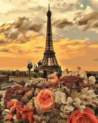 Картина по Номерам 40x50 см. Закат в Париже Rainbow Art, фото 2