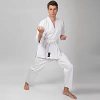 Кимоно для карате белое MATSA (хлопок, р-р 000-6 (110-190см), плотность 240г на м2)