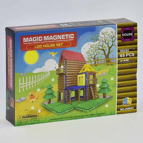 Конструктор магнитный JH 8852 (48) Домик, 65 деталей, в коробке, фото 2