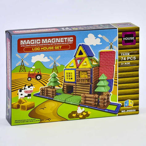 Конструктор магнитный JH 8856 (48) Ферма, 74 детали, в коробке, фото 2
