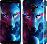 "Чехол на Samsung Galaxy A8 Plus 2018 A730F Арт-волк ""3999c-1345-25032"""