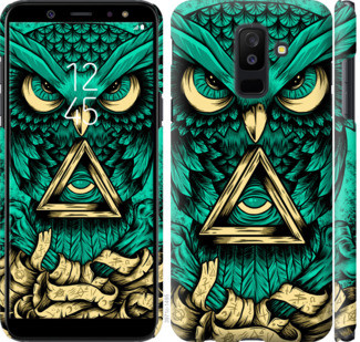 "Чехол на Samsung Galaxy A6 Plus 2018 Сова Арт-тату ""3971c-1495-25032"""