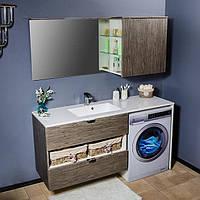Комплект меблів над пральною машиною 150 см Fancy Marble Vivara Бук