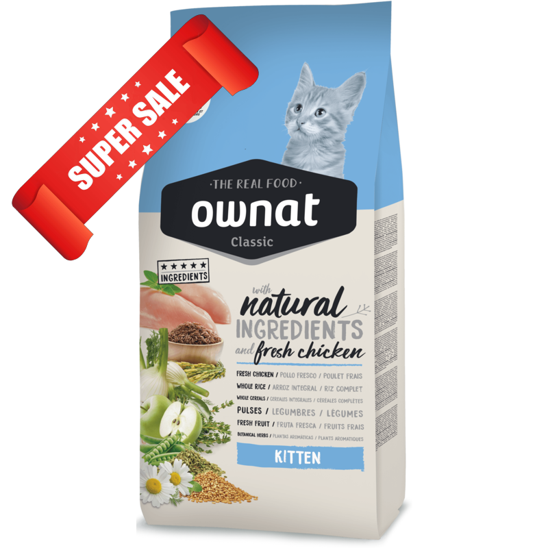 Сухой корм для котят Ownat Classic Kitten 4 кг