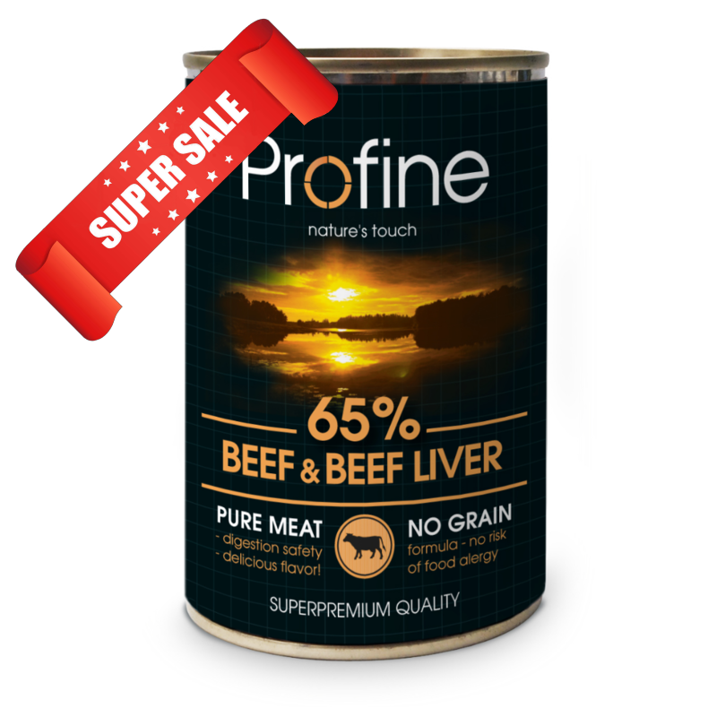 Влажный корм для собак Profine Beef & Beef Liver 400 г