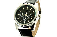 Наручные часы для мужчин с черным циферблатом