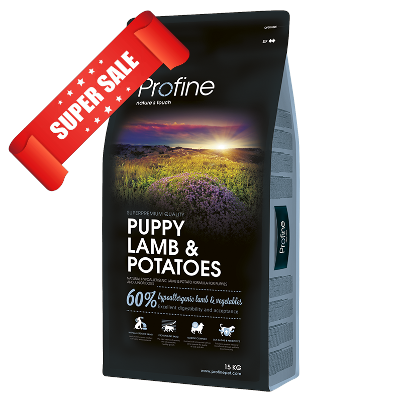Сухой корм для щенков Profine Puppy Lamb & Potatoes 15 кг