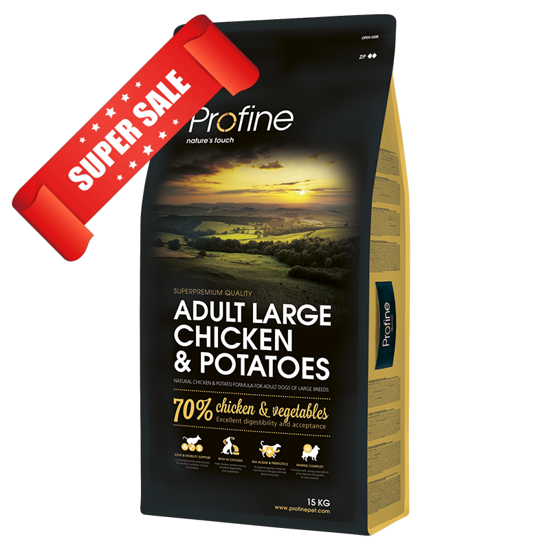 Сухой корм для собак Profine Adult Large Chicken & Potatoes 15 кг