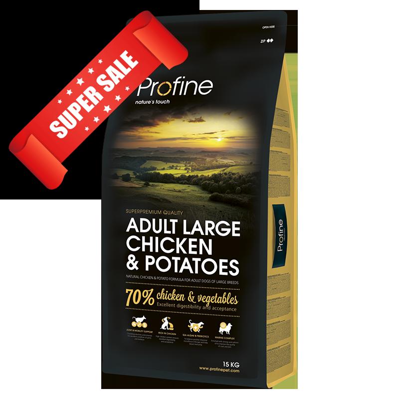 Сухой корм для собак Profine Adult Large Chicken & Potatoes 3 кг