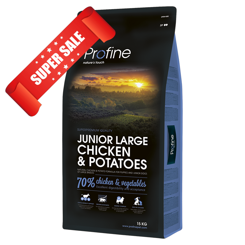 Сухой корм для щенков Profine Junior Large Chicken & Potatoes 15 кг
