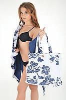 Белая пляжная сумка с вышивкой Iconique KR 611 One Size Синий Iconique KR 611