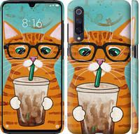 """Чехол на Xiaomi Mi9 Зеленоглазый кот в очках """"4054c-1648-25032"""""""