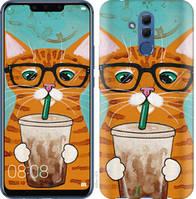 """Чехол на Huawei Mate 20 Lite Зеленоглазый кот в очках """"4054u-1575-25032"""""""