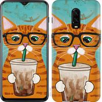 """Чехол на OnePlus 6T Зеленоглазый кот в очках """"4054u-1587-25032"""""""