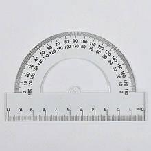 Лінійка 0625 (2880) 11см, транспортир, прозора /ЦІНА ЗА 1ШТ/