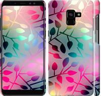"Чехол на Samsung Galaxy A8 Plus 2018 A730F Листья ""2235c-1345-25032"""