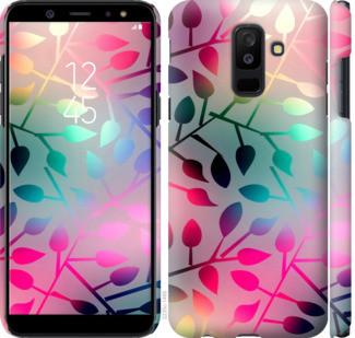 "Чехол на Samsung Galaxy A6 Plus 2018 Листья ""2235c-1495-25032"""