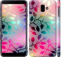 """Чехол на Samsung Galaxy J6 Plus 2018 Листья """"2235c-1586-25032"""""""