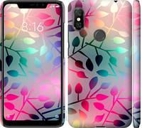 "Чехол на Xiaomi Redmi Note 6 Pro Листья ""2235c-1551-25032"""