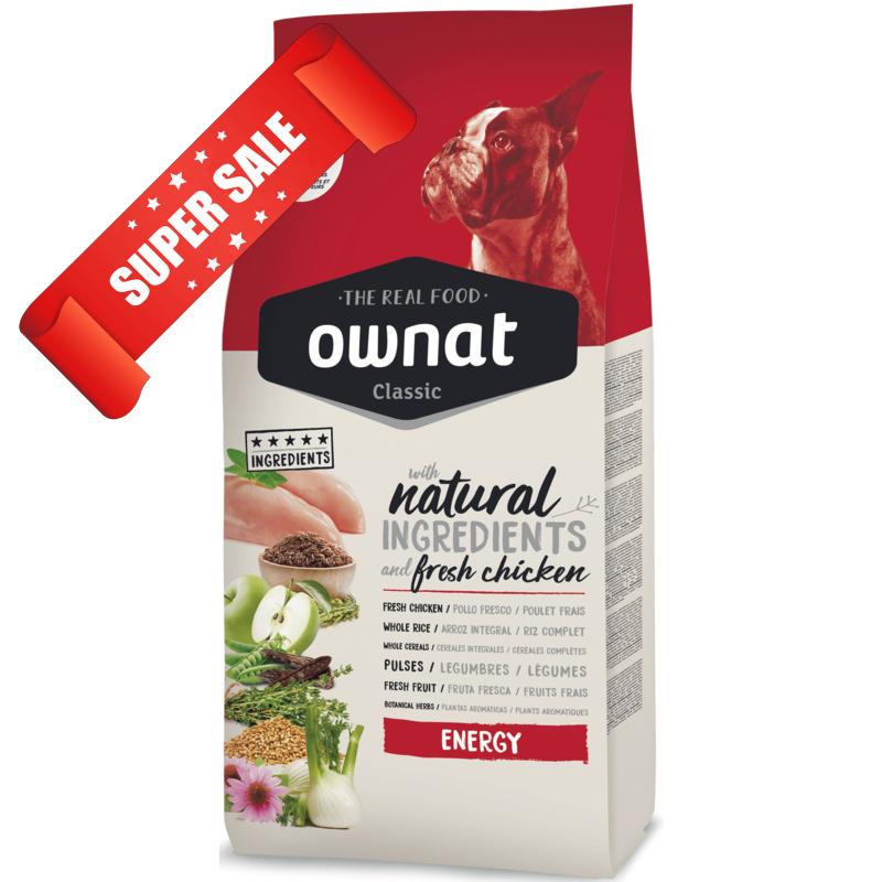 Сухой корм для собак Ownat Classic Energy 4 кг