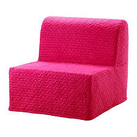 IKEA ЛИКСЕЛЕ ЛЁВОС Кресло-кровать, Валларум пурпурный, (592.808.43)