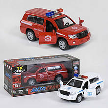 """Машина металлопластик P 94039 (96/2) """"Auto Expert"""", 2 вида, свет, звук, инерция, открываются двери, в коробке"""
