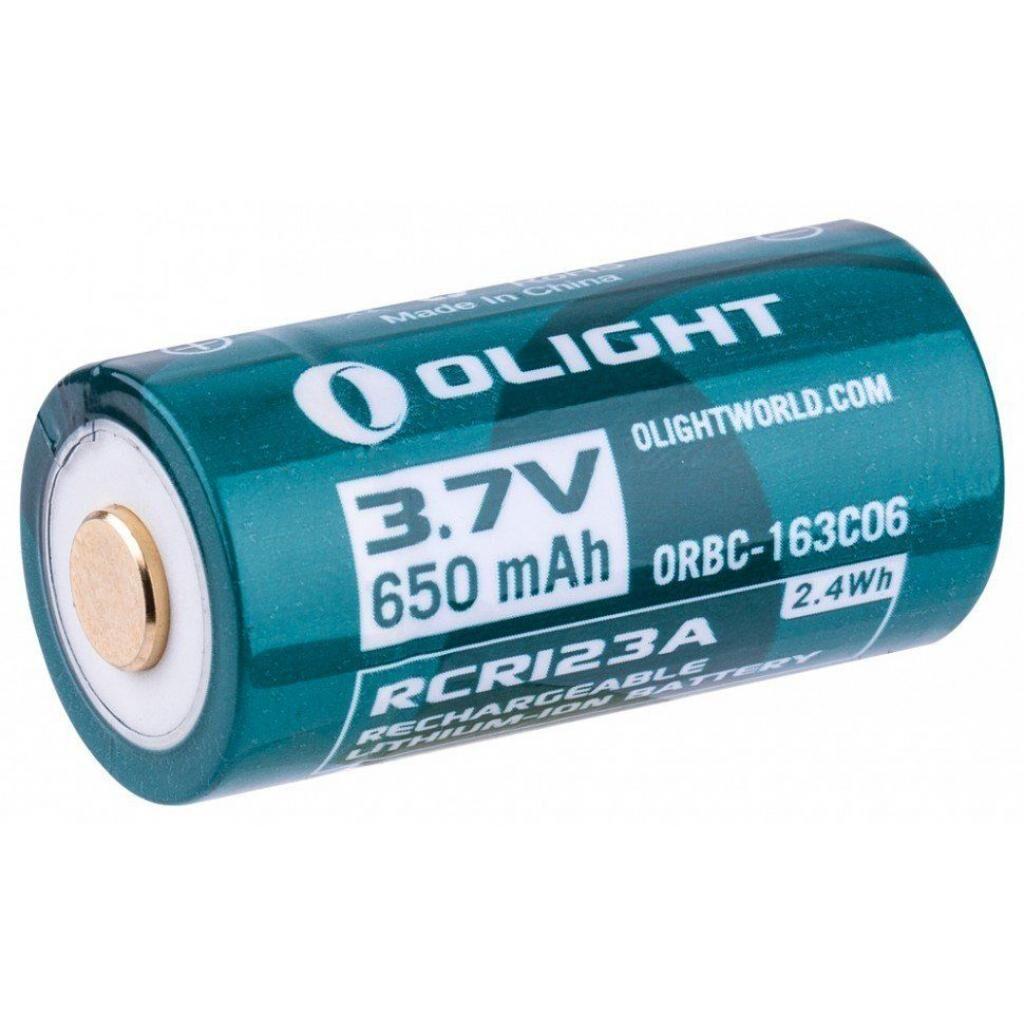 Аккумулятор Olight 16340 с micro-USB 650 mAh (кабель в комплекте) (ORBC-163CO6)