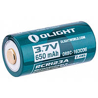 Аккумулятор Olight 16340 с micro-USB 650 mAh (кабель в комплекте) (ORBC-163CO6), фото 1