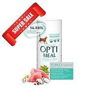 Сухой корм для кошек Optimeal Cat Adult Sterilised Turkey And Oat 300 г