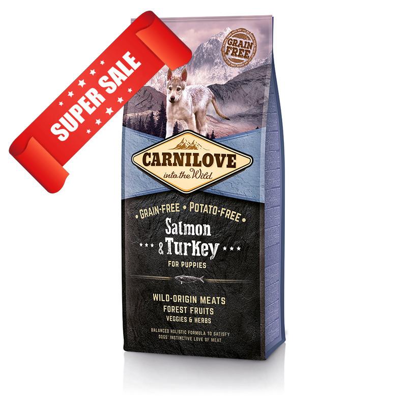 Сухой корм для щенков Carnilove Puppy Salmon & Turkey 12 кг