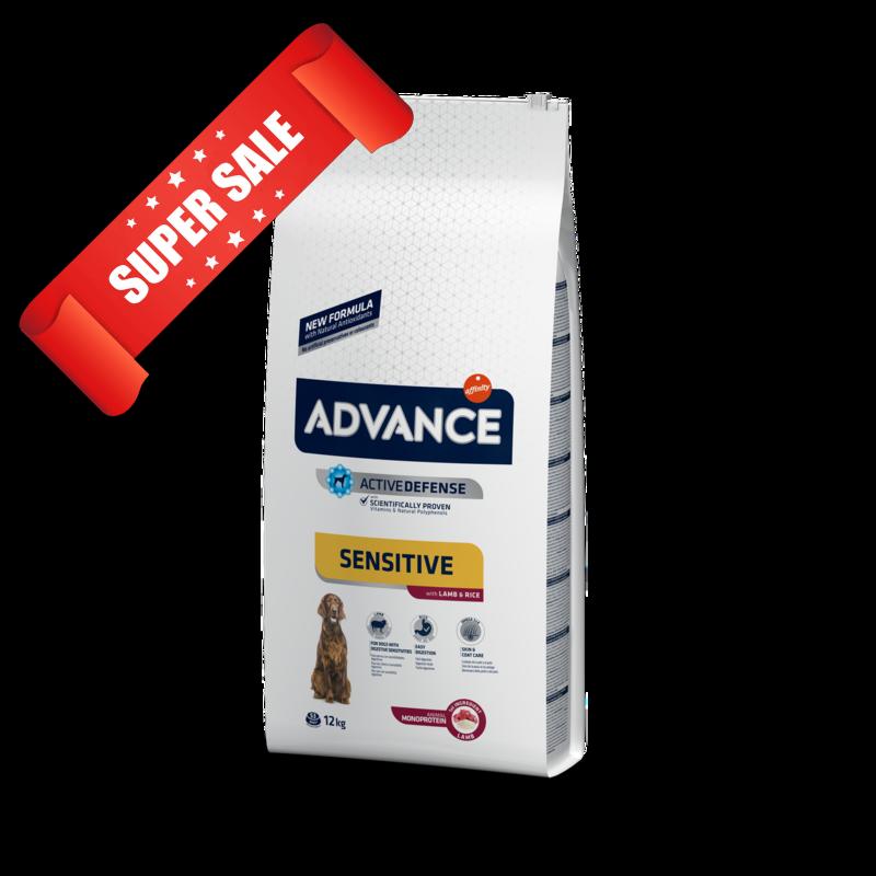 Сухой корм для собак Advance Medium-Maxi Sensitive Lamb & Rice 12 кг