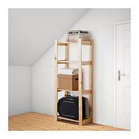 IKEA АЛЬБЕРТ Стеллаж, хвойное дерево сосна, 64x28x159 см, (001.119.94)