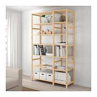 IKEA ИВАР 2 секции/полки, сосна, 134x50x226 см, (292.483.45)