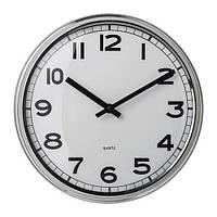 IKEA ПУГГ Настенные часы, нержавеющ сталь, (103.919.08)