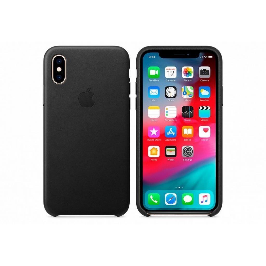 Чехол для моб. телефона Apple iPhone XS Leather Case - Black, Model (MRWM2ZM/A)