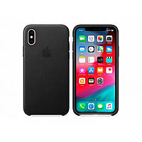 Чехол для моб. телефона Apple iPhone XS Leather Case - Black, Model (MRWM2ZM/A), фото 1