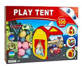 """Детская Палатка с шариками """"Тачки"""" S-1771"""