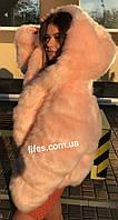 Меховая шуба Роза из искусственного эко - меха песца XL,XXL, фото 1