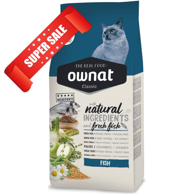Сухой корм для кошек Ownat Classic Fish 1,5 кг