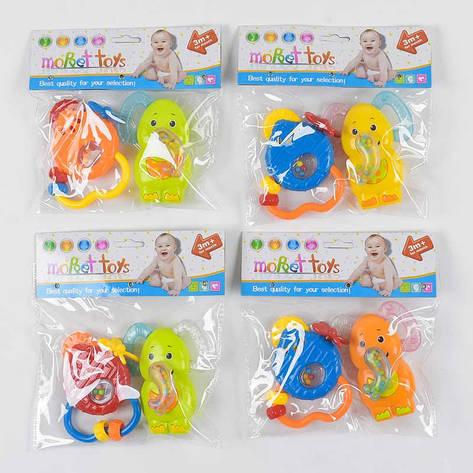 Набор погремушек 8368 А-15 (288/2) 4 вида, 2шт в кульке, фото 2