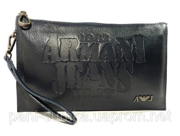 a6971e99a3c3 Клатч мужской средний кожаный Armani Jeans 921-2 синий, сумка мужская, фото  1