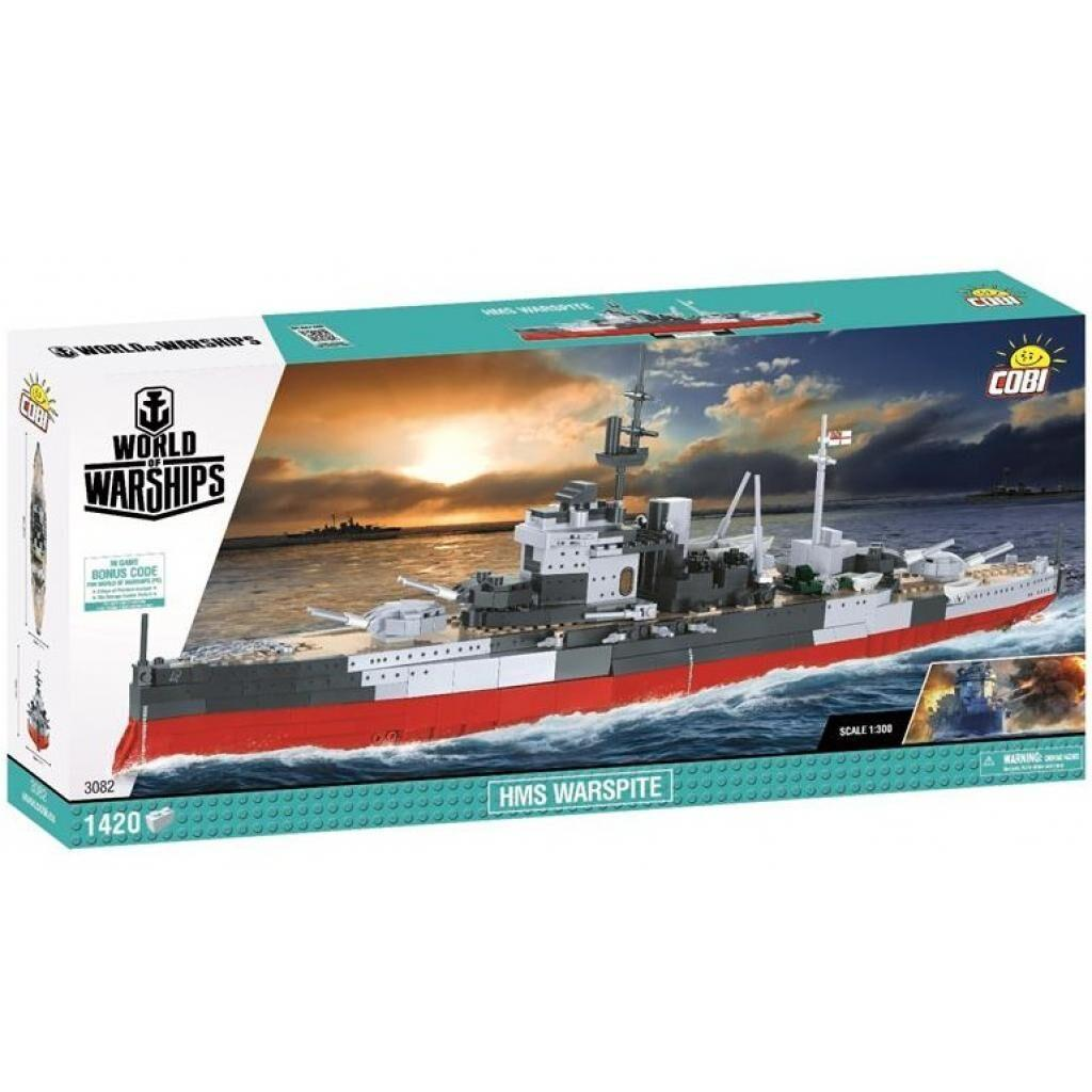 Конструктор Cobi World Of Warships Корабль Его Величества Линкор «Уорспайт» (5902251030827)