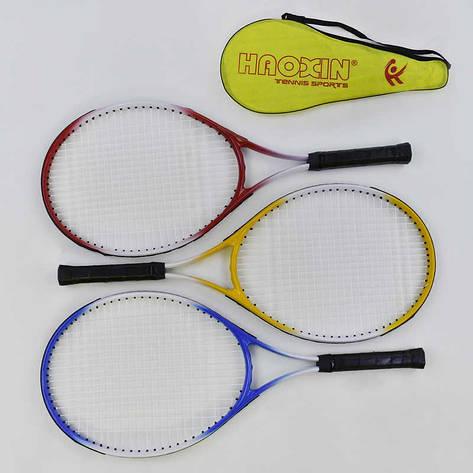 Ракетка для тениса С 34532 (30) 3 цвета, в чехле, фото 2