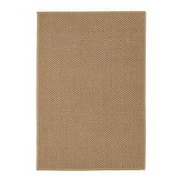 IKEA HELLESTED, Ковер плетенный, натуральный, коричневый, 133x195 см, (404.079.79)